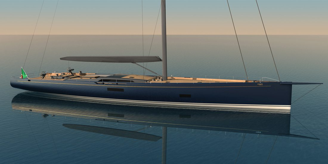 Photo of Reichel Pugh Nauta Baltic 130', a high-tech lightweight high-performance