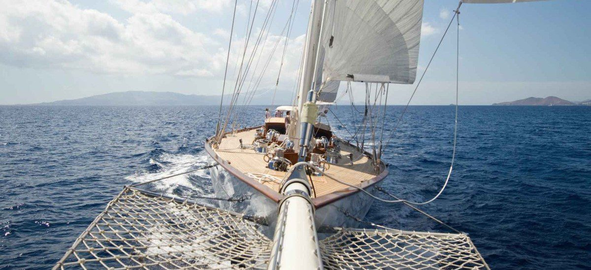 Photo of Behind the scenes of making of 47 mt. schooner Zenith