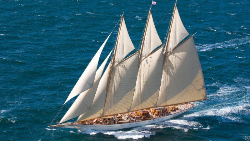 A huge variety of yachts will be competing for the IRC One Trophy this year, including the majestic three-masted schooner, Adix