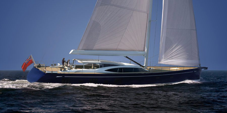 Oyster 118 sailing