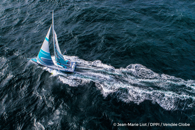 Morgan Lagraviere (Fra) onboard IMOCA Safran training before Vendee Globe, start 6 november 2016 in Les Sables d'Olonne, off Groix, south brittany, on april 15th, 2016 - Photo Jean Marie Liot / DPPI/ Vendee Globe