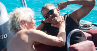A special kiteboarding challenge: Richard Branson vs… Barack Obama