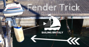 Cruising Tips: Outboard Engine Fender Trick. VIDEO