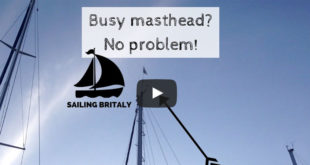 How to fly a burgee from a busy masthead (pig stick). VIDEO