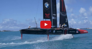Why the bow-down attitude of America's Cup Class boat? VIDEO