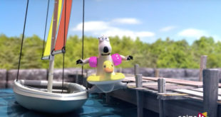 Wind won't blow and you need to go sailing? Bernard Bear tries to find an alternative