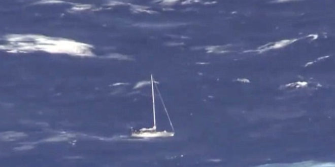 Three British sailors rescued in the Atlantic after sailboat hit a whale