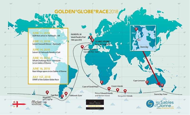 golden globe race 2018 route